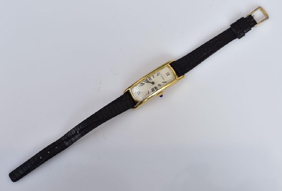 Cartier 18k Gold Curvex Wrist Watch - 2