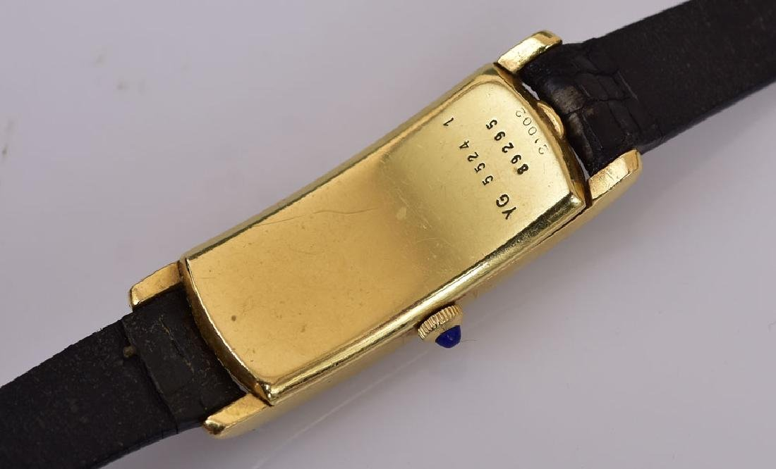 Cartier 18k Gold Curvex Wrist Watch - 3