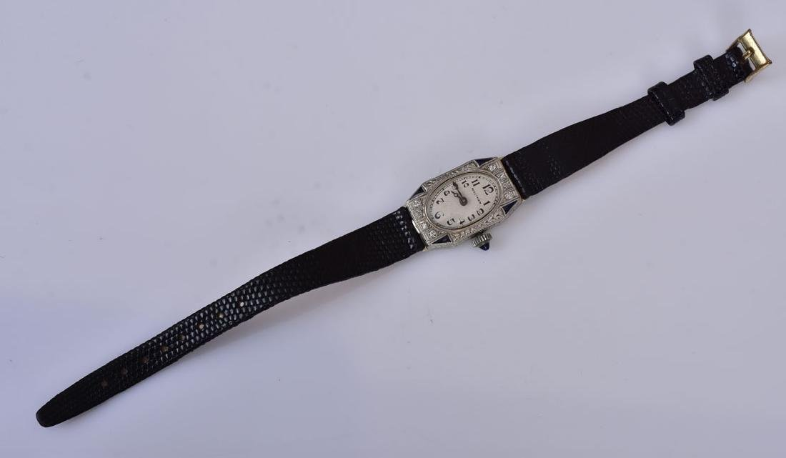 14k Gold Waltham Diamond Ladies Wrist Watch