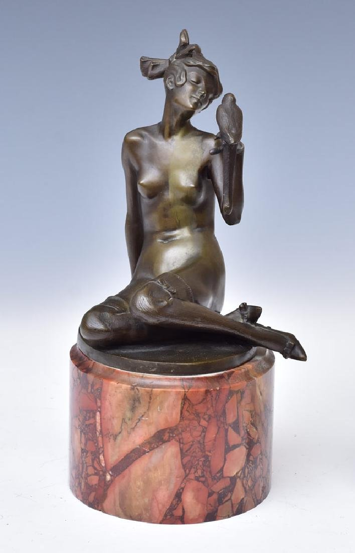 Johann Wolfgang Elischer Bronze Figure