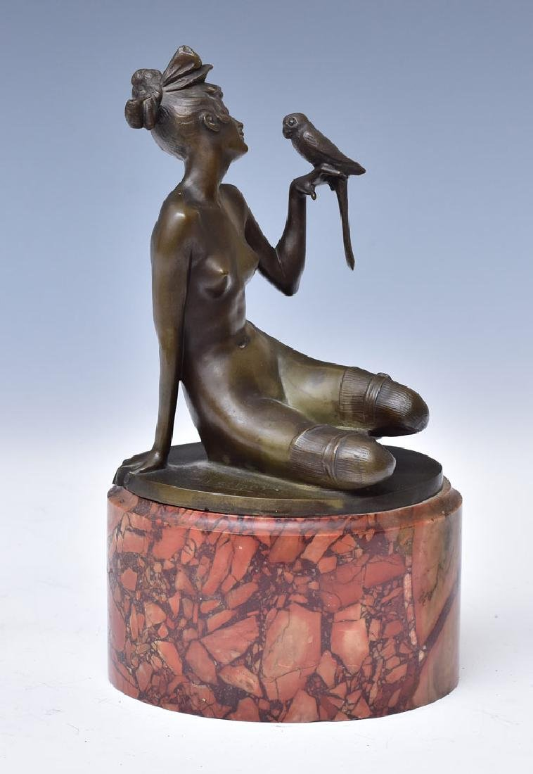 Johann Wolfgang Elischer Bronze Figure - 2