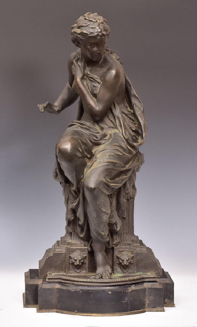 Bronze Figure of a Classical Maiden
