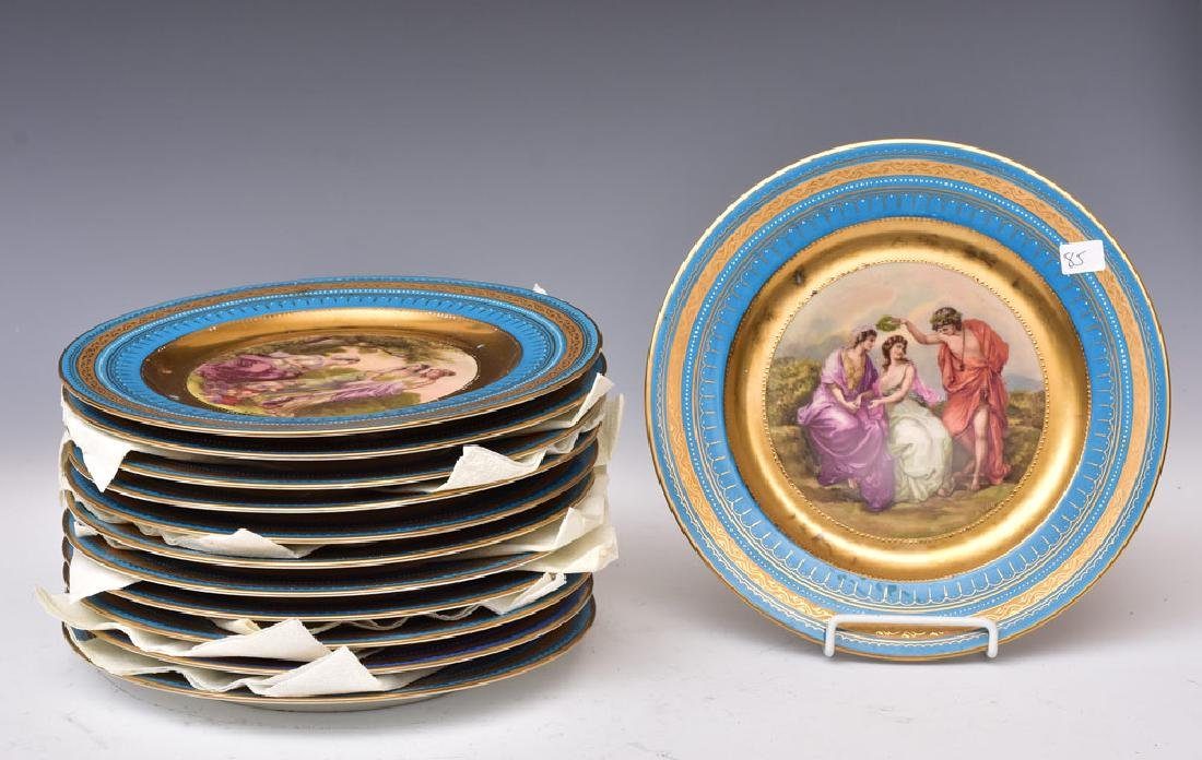 Royal Vienna Style Cabinet Plates (12)