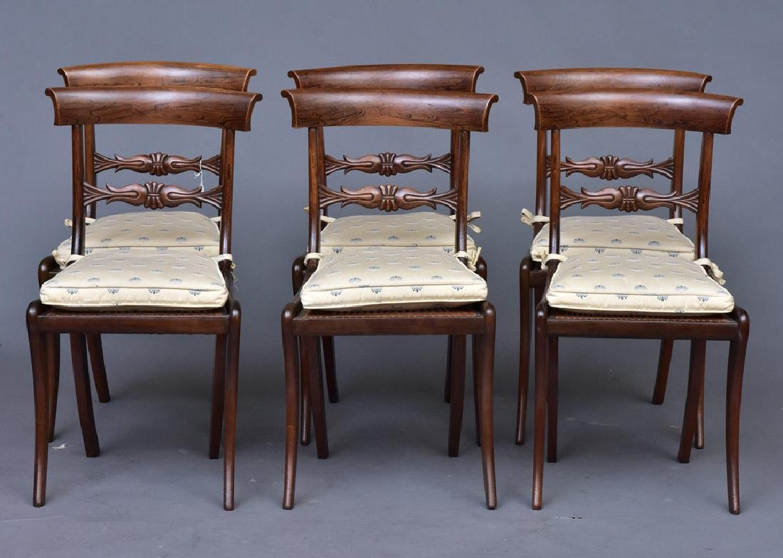 Set of Six Regency Style Chairs