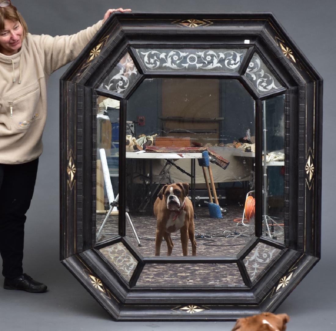 Large Dutch Ebonised Mirror