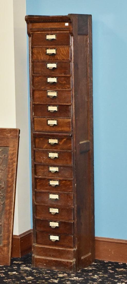 Victorian Oak File Cabinet