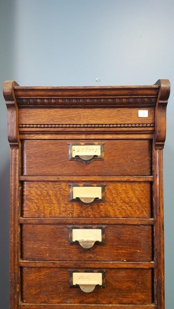 Victorian Oak File Cabinet - 2