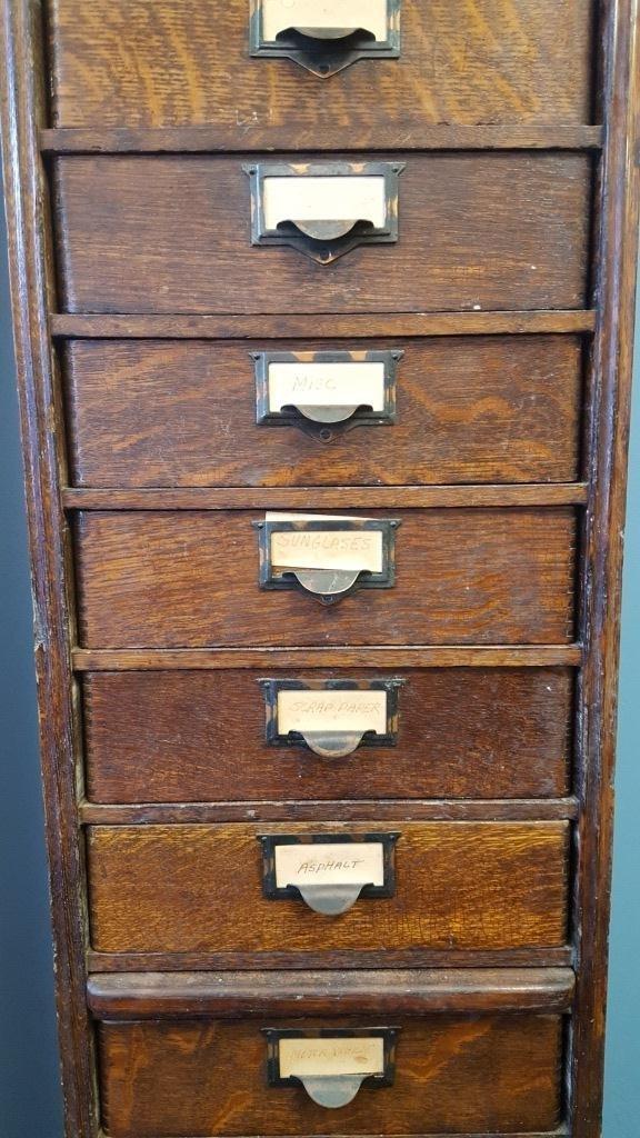 Victorian Oak File Cabinet - 3