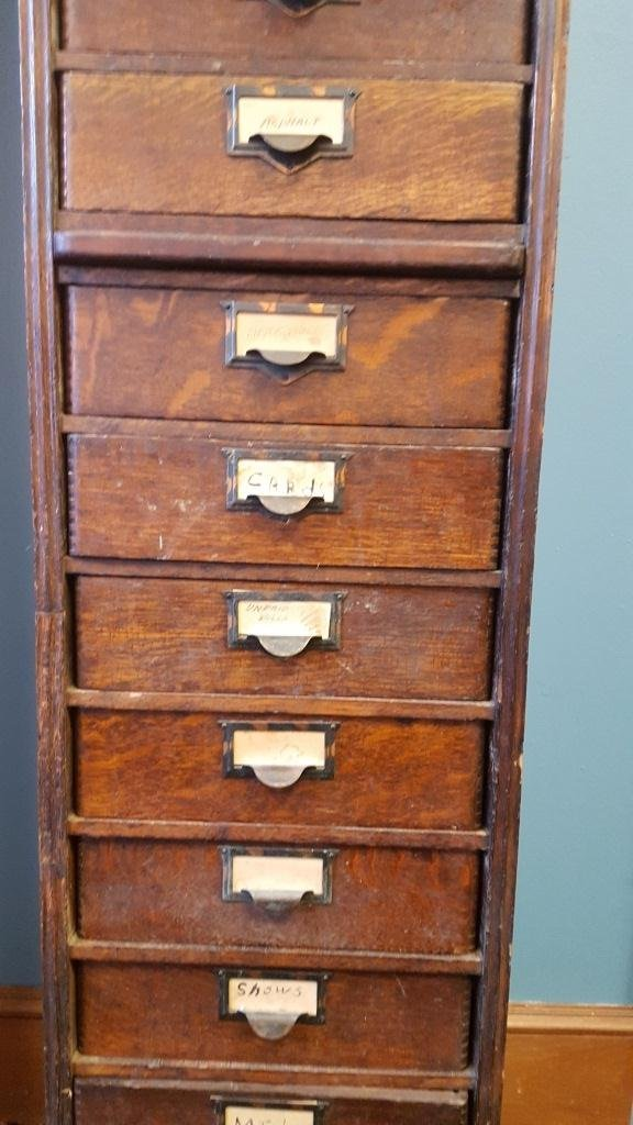 Victorian Oak File Cabinet - 4