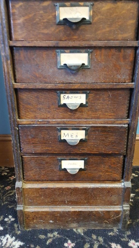 Victorian Oak File Cabinet - 5