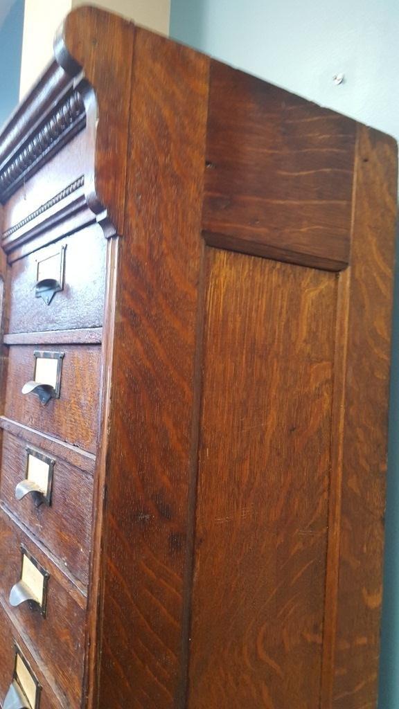 Victorian Oak File Cabinet - 7