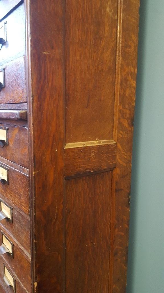 Victorian Oak File Cabinet - 8