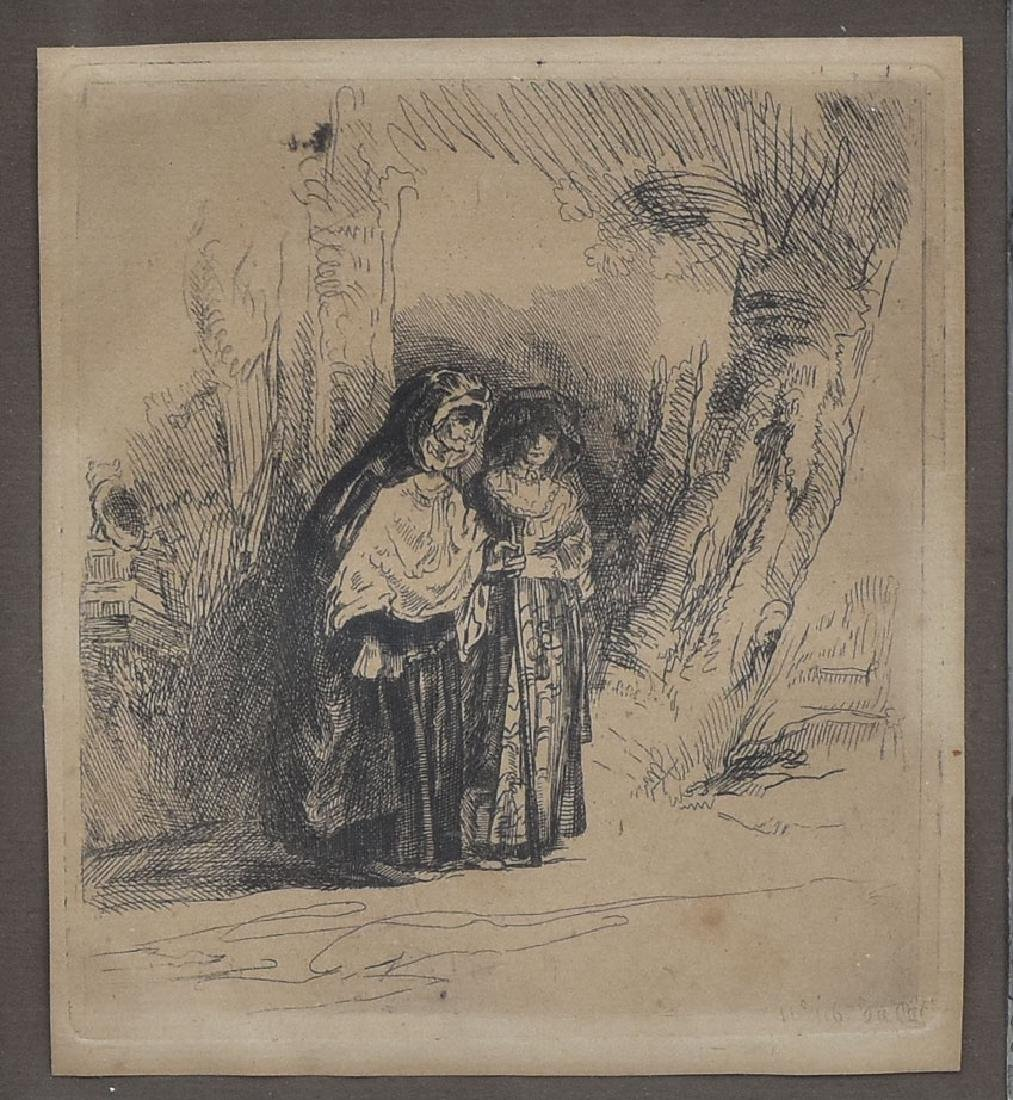 after Rembrandt Etching
