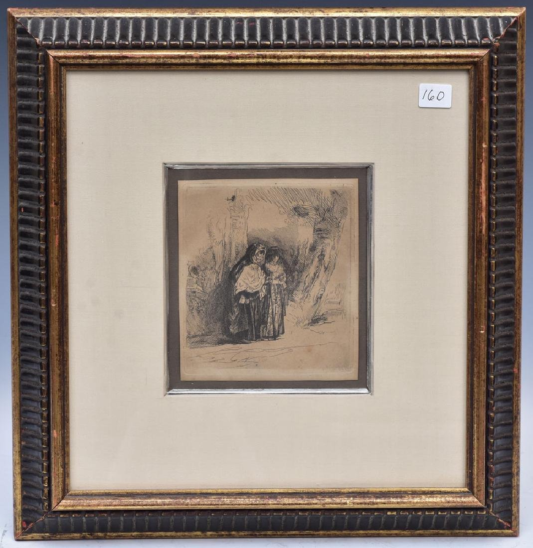 after Rembrandt Etching - 2