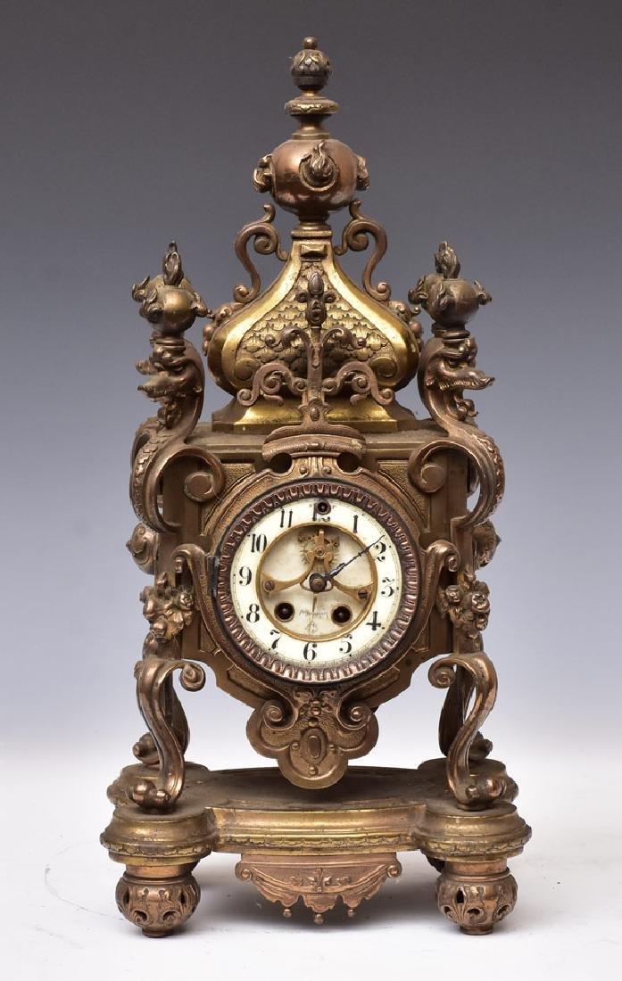 Gilbert Renaissance Revival Mantel Clock