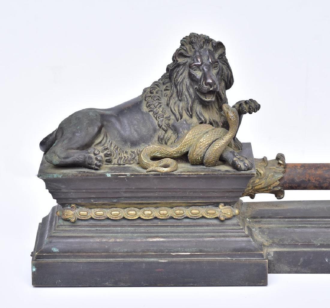 French Bronze Chenets