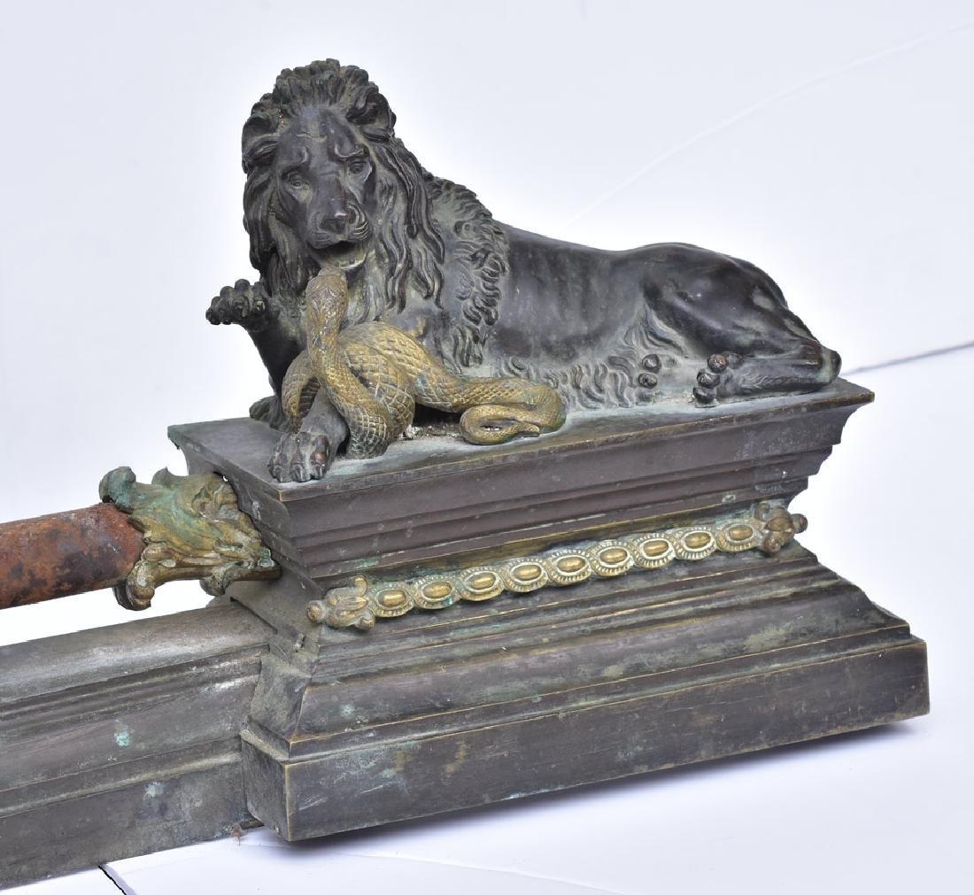 French Bronze Chenets - 3