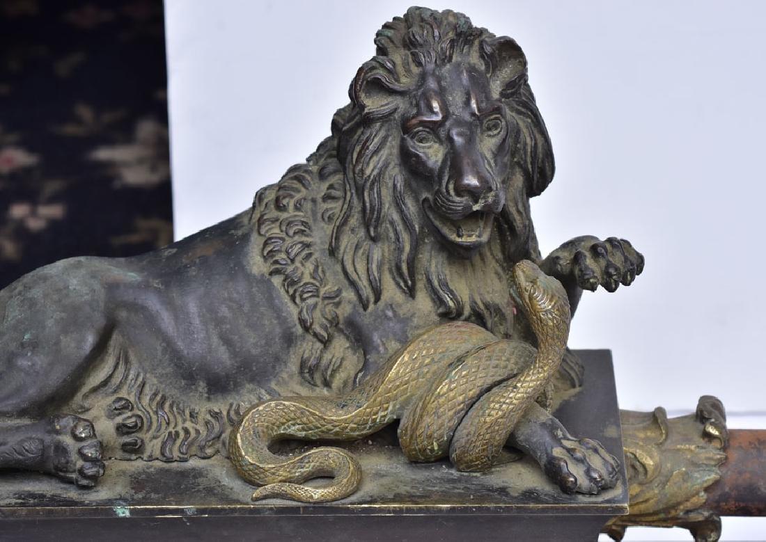 French Bronze Chenets - 4