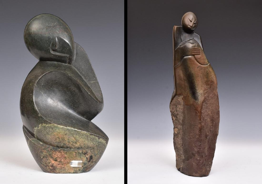 Two African Carved Stone Sculptures