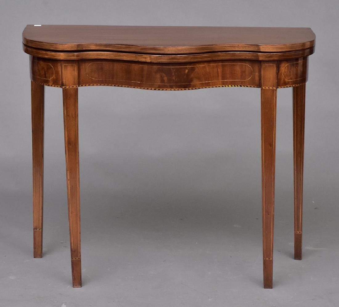 Federal Style Inlaid Card Table