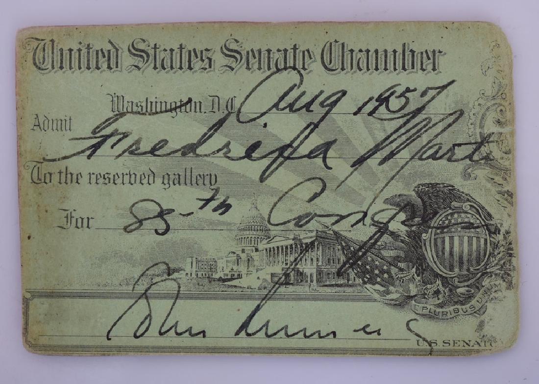 John F. Kennedy Signed US Senate Pass