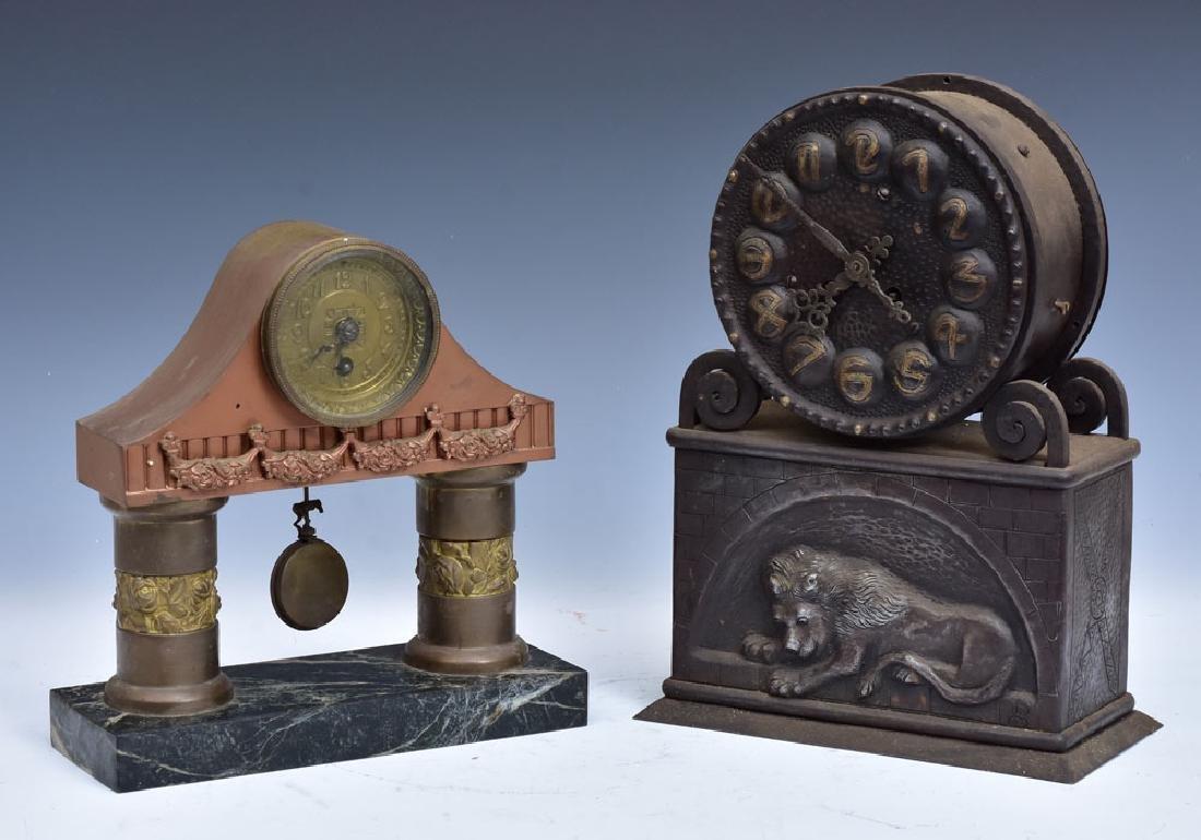 Pair of Secessionist Mantel Clocks