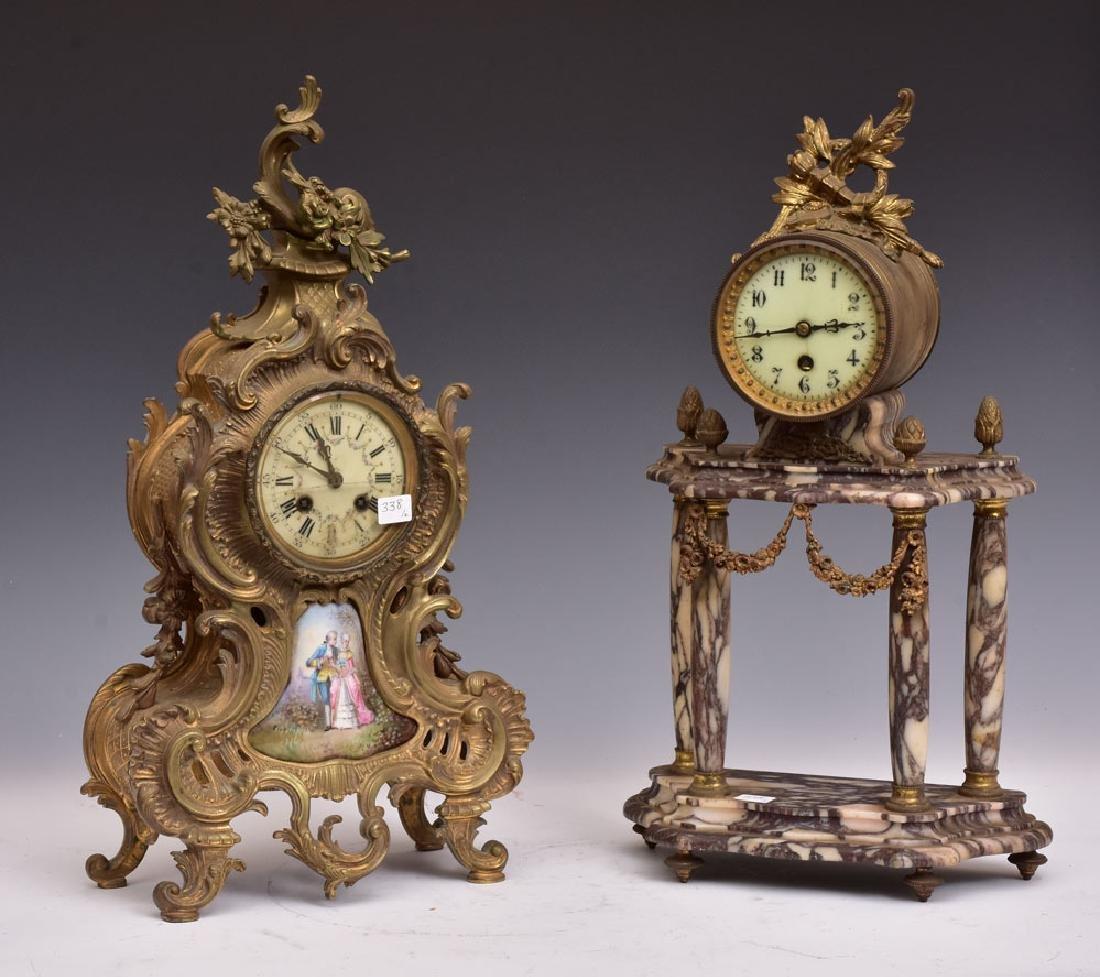 Two French Mantel Clocks