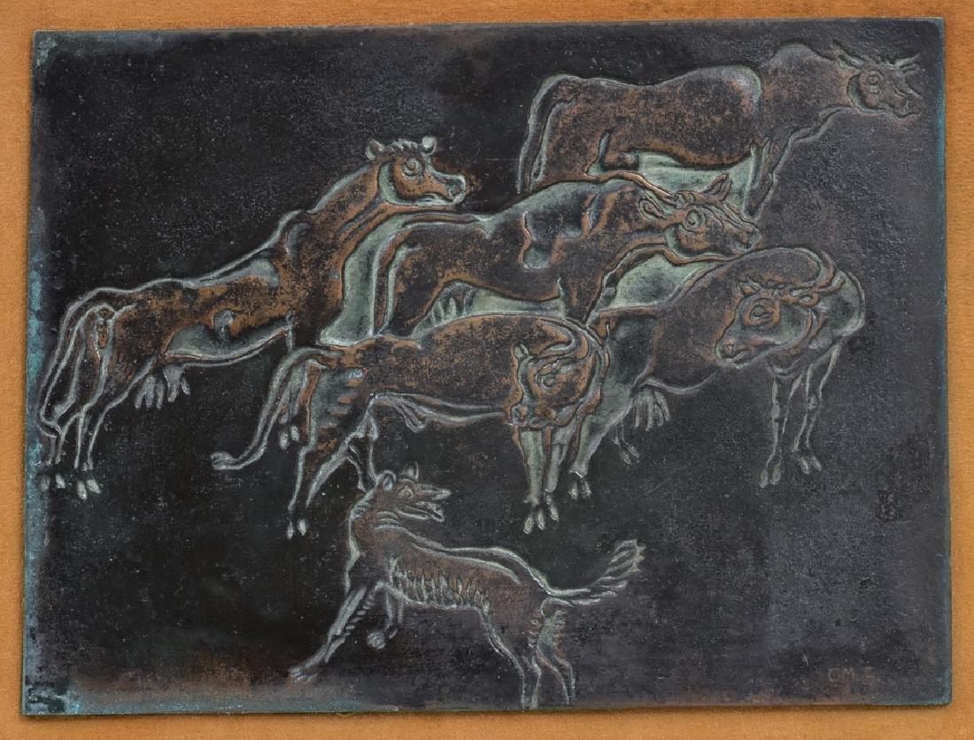 Cast Bronze Panel
