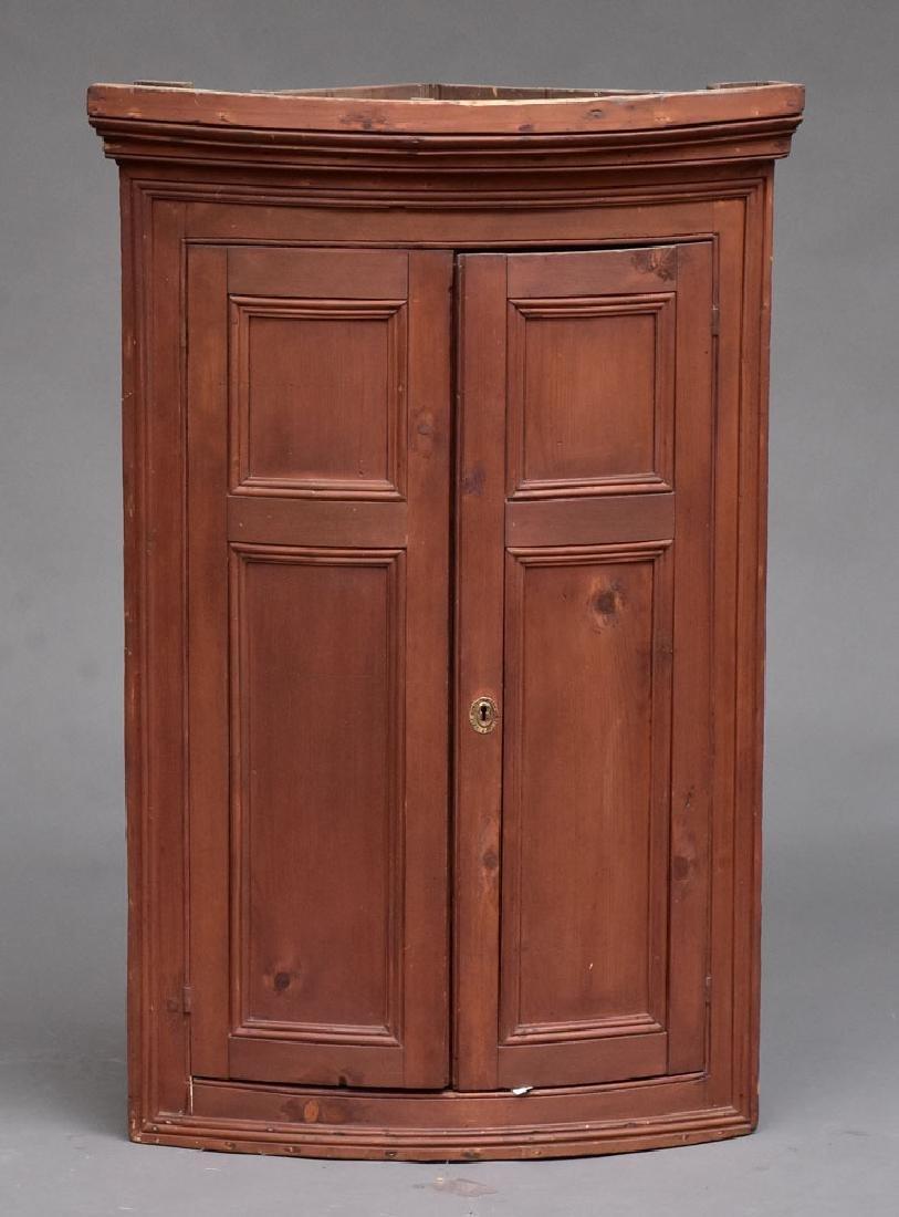 Federal Pine Corner Cabinet