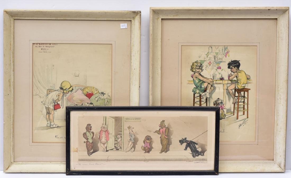 Three French Lithographs