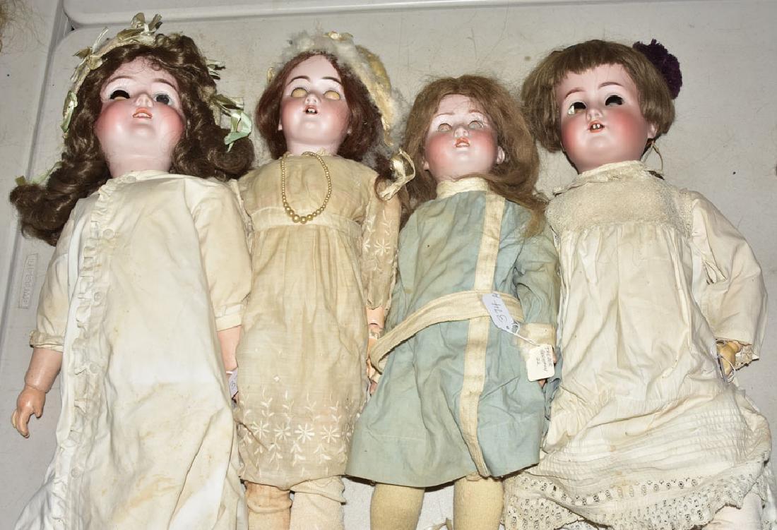Four German Bisque Dolls