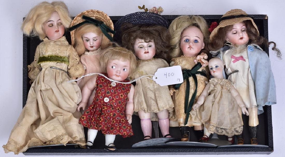Group of Seven German Bisque Dolls