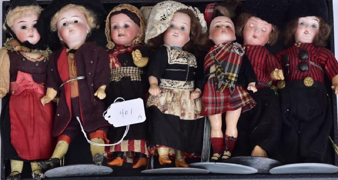 Group of Seven Bisque Dolls