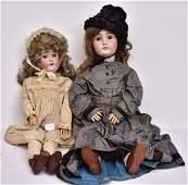 Two German Bisque Dolls