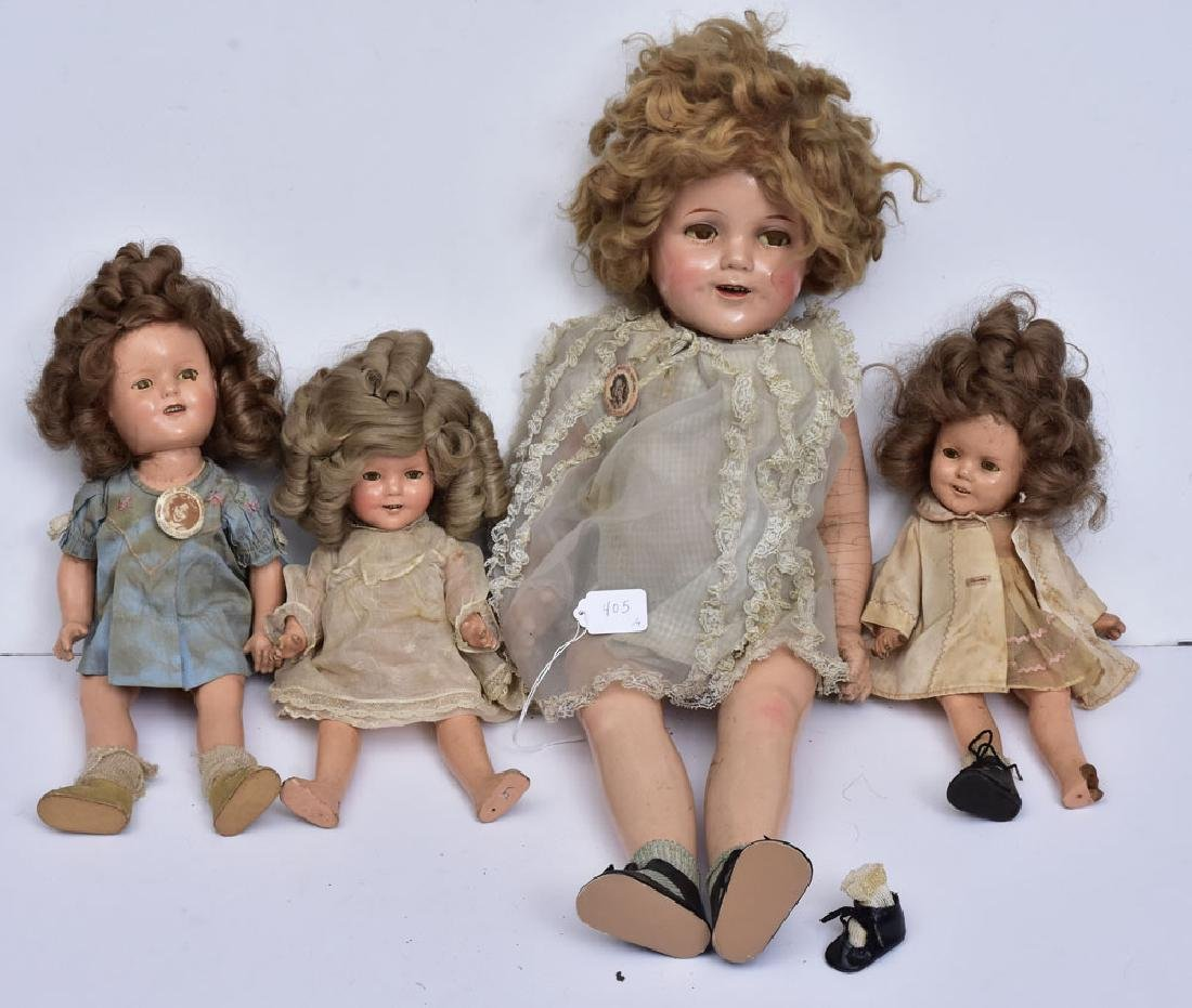 Four Shirley Temple Dolls