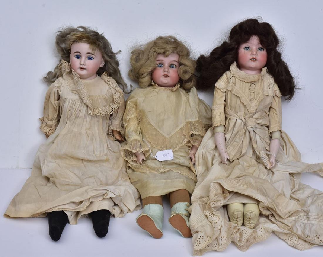 Three German Bisque Dolls