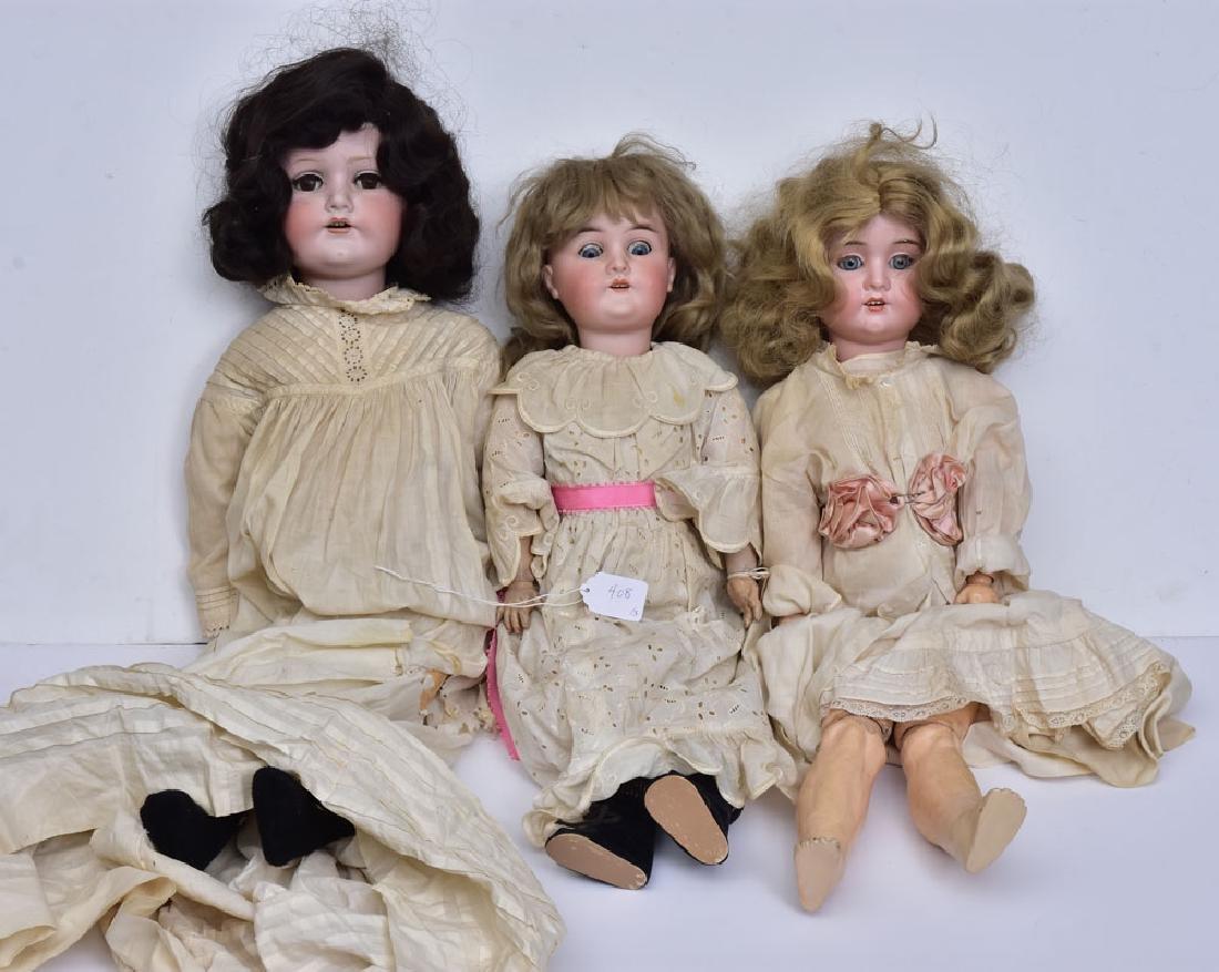 Three German Bisque Dolls
