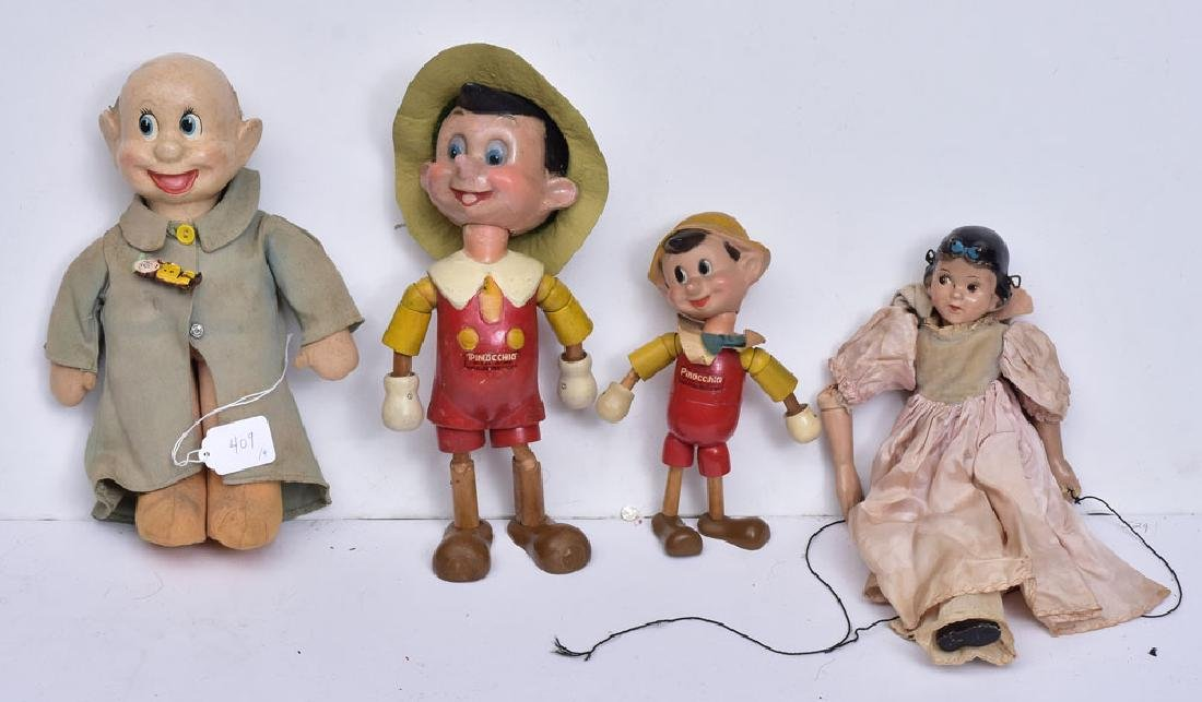 Four Disney Dolls/Puppets