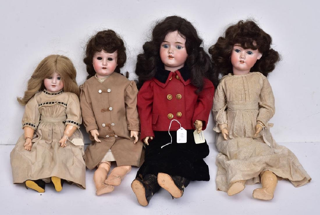 Four German Bisque Dolls