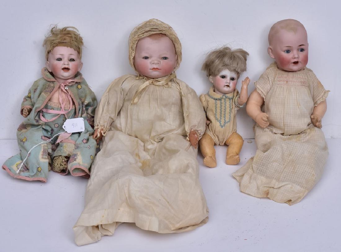 Four Bisque Dolls