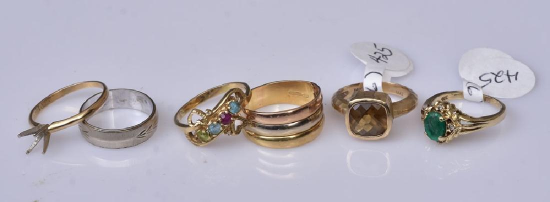 Six 14k Gold Rings