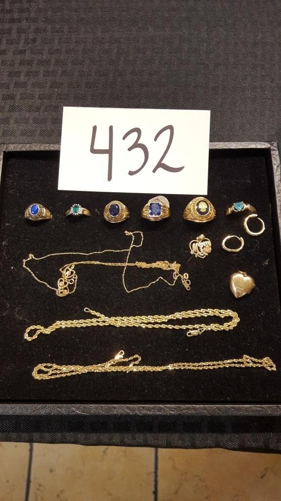 Group of 10k Gold Jewelry
