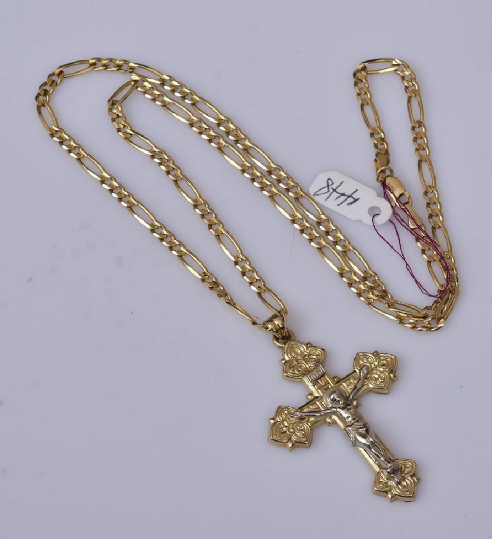 14k Gold Cross