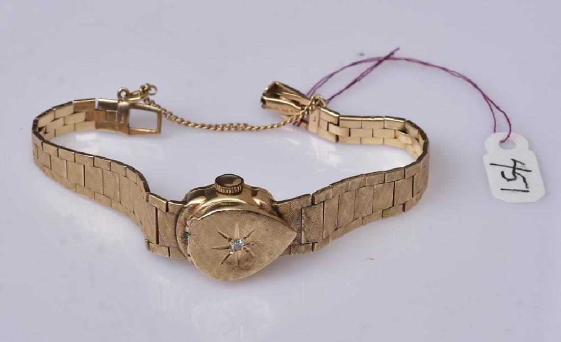 14k Gold Sellita Ladies Wrist Watch