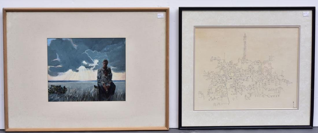 Group of Four Framed Artworks