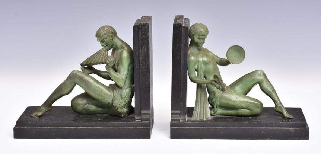 French Art Deco Figural Bookends