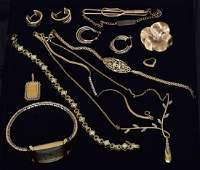 Group 14k and 10k Gold Jewelry