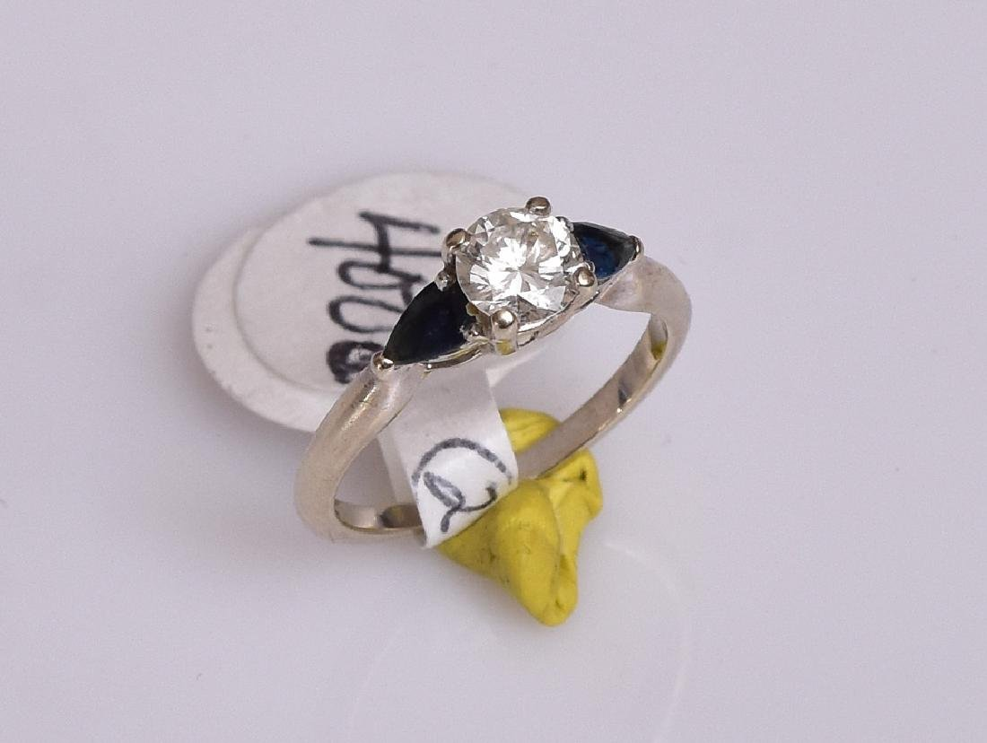 14k Gold Sapphire and Diamond Ring - 2