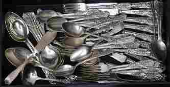 Partial Set Westmorland Sterling Silver Flatware