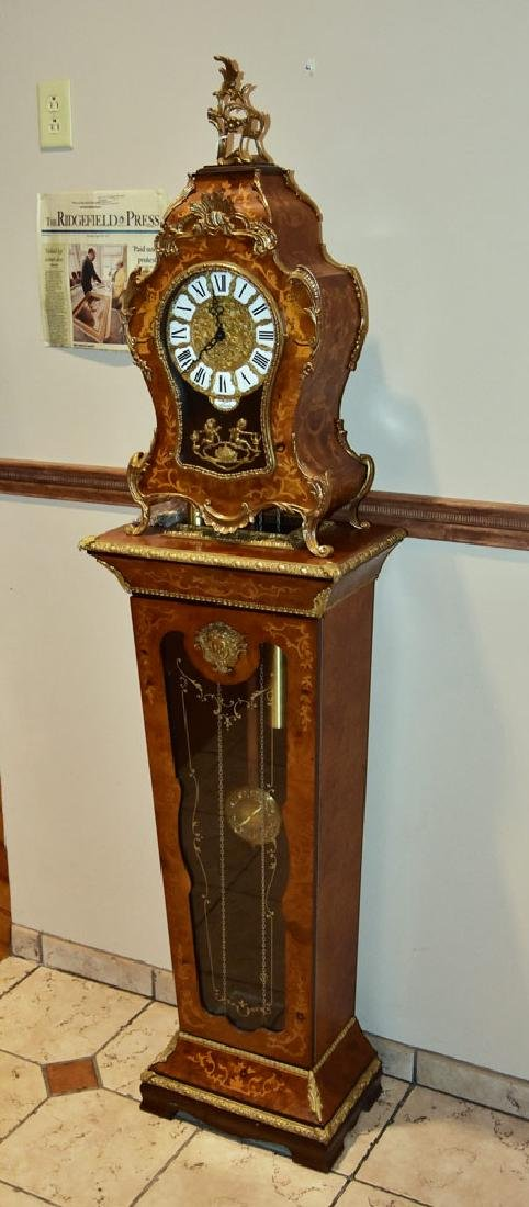 Lauris Louis XV Style Bracket Clock and Pedestal